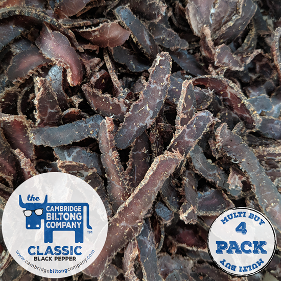 Picture of 4 X Classic Black Pepper Biltong 32g Pouch