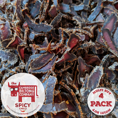 Picture of 4 X Spicy Chilli Biltong 32g Pouch